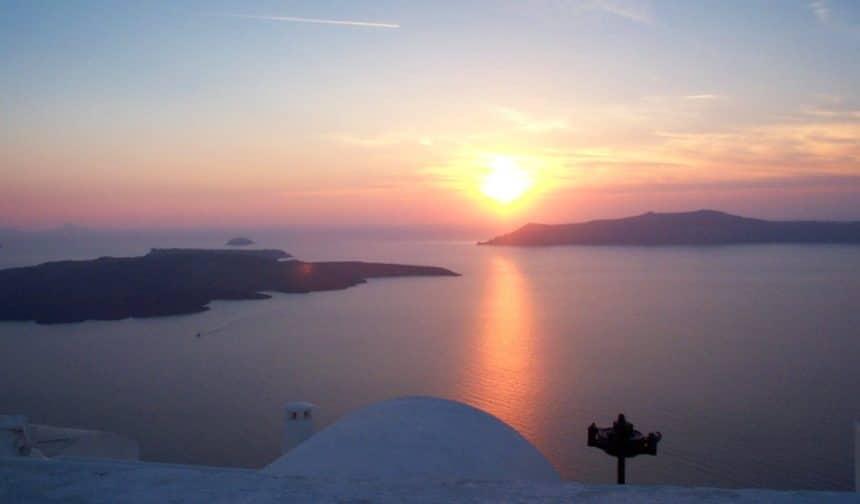 Voyage de noces à Santorin